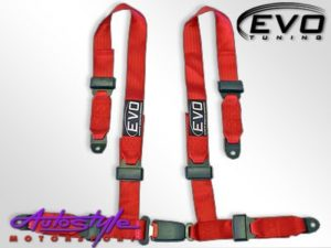 Evo Red 4point Racing Seat Harness-0