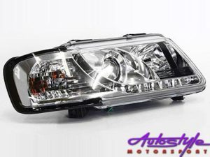 A3 96-00 DRL Chrome Headlight-0