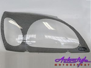 Ford Fiesta/Ikon/Bantam Carbon Headlight Shield-0