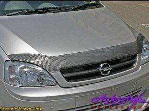 Nissan Hardbody 09 + Carbon look Bonnet Guard-0