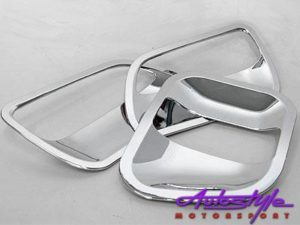 Toyota Quantum Door handle Chrome scratchplates-0