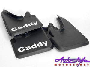VW Caddy Bakkie Black Rubber Mudflaps-0