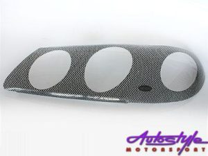 Nissan Almera Carbon Headlight Shields 2001up-0