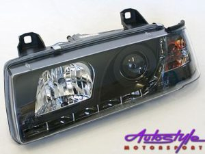 Suitable for E36 Black Headlightswith Driving Ligh-0