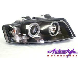 Audi A4 01-04 B6 Black Angel Eye Headlights-0