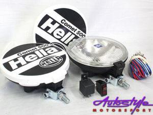 Hella Comet 500 Spotlamps (pair)-0