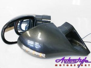 Sport Carbon Look Mirrors with LED indicators-0