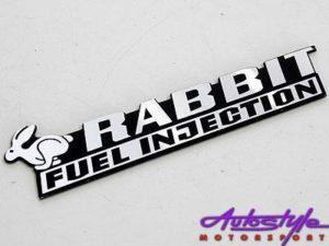 Rabbit Fuel Injection Badge-0
