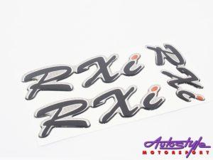 Toyota RXi 3pc Gel Dome Sticker Set-0