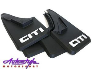 Golf 1 Mudflaps with Chrome CITI logo-0