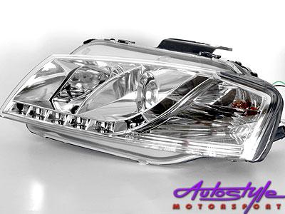 Audio A3 Chrome DRL Style Headlights-0