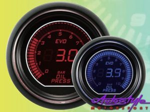 Autogauge EVO Oil Pressure Gauge 52mm-0