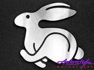 VW Rabbit Badge 5cm x 4.5cm-0