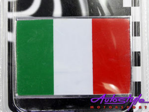 Badge Italy Flag -70mm x 45mm-0