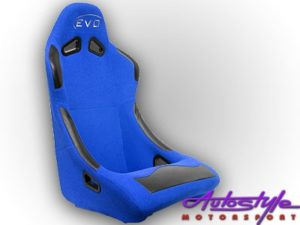Evo Tuning Blue Non Reclinable Racing Seat (each) -0