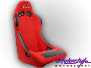 Evo Tuning Red Non Reclinable Racing Seat (each) -0