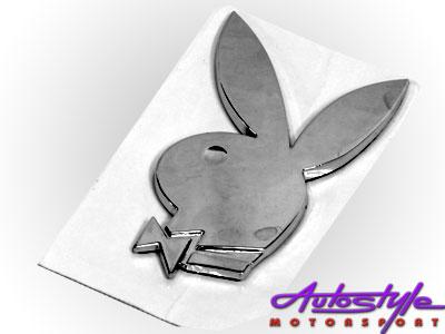 Chrome Bunny Badge Sticker