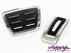 VW Golf Mk7 Brushed Silver DSG Sports Pedals-0