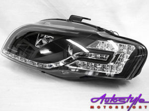 Audi A4 2004 Tube Style DRL Headlamps (black)-0