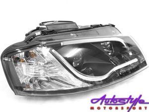 Audi A3 (2003) LED Type Style DRL Headlights (black)-0