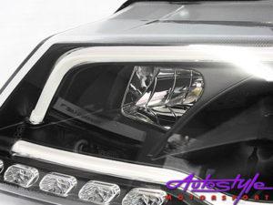 Audi A3 LED Tube Black Style Headlights (2008)-16488