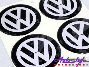 VW 90mm Wheel Center Cap Decals-0