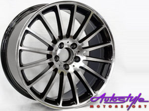 "19"" SSQ ZR63 5/112 Silver & Black Alloy Wheels-0"