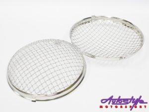 VW Beetle Headlight Mesh Grille Covers (pair) 50-67 models-0