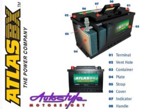 AtlasBX SMF Sealed Car Battery (616 thin terminal)-18733