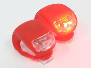 Universal Silicon & LED Bicycle Flashing Light (pair)-0