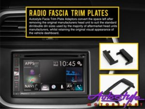 Radio Fascia Trim Plate for Jeep Wrangler Double-Din-0