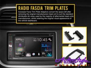 Radio Fascia Trim Plate for Audi A3 03-12 Single Din-0