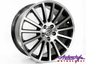 "17"" QS SS32 Black Polish 5/100 Alloy Wheels-0"