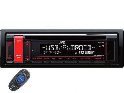 JVC KD-R486 CD Receiver with Front USB/AUX Input-0