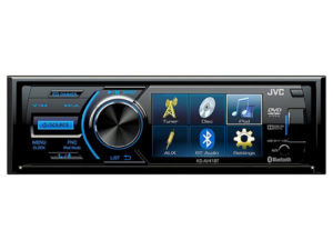 """JVC KD-AV41BT 3"""" Single-Din Car Receiver with Bluetooth, DVD, USB, Remote and IPhone Control -0"""