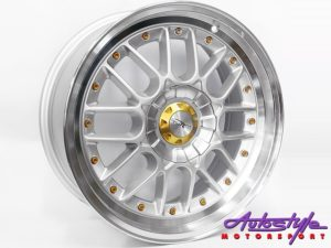"17"" YSA Smash 5/100 & 5/112 Silver Alloy Wheels-0"