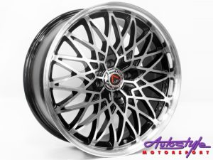 "17"" GR GW09 4/100 BKMF Alloy Wheels-0"