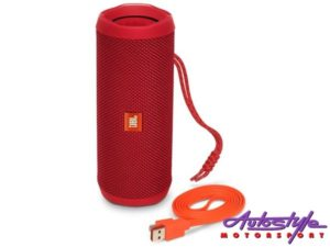 JBL FLIP 4 Red Portable Waterproof Bluetooth Speaker -0