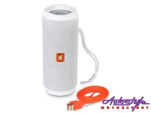 JBL FLIP 4 White Portable Waterproof Bluetooth Speaker -0