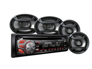"Pioneer DXT-S1169UB Mp3 Cd Front Loader with 6x9"" & 6"" Speaker combo-0"