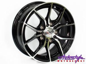 "14"" ST Burn 5/100 & 5/114 BKI Alloy wheels-0"