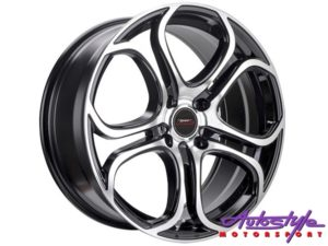 "17"" A-Line Spunk 4/100 BKMF Alloy Wheels-0"
