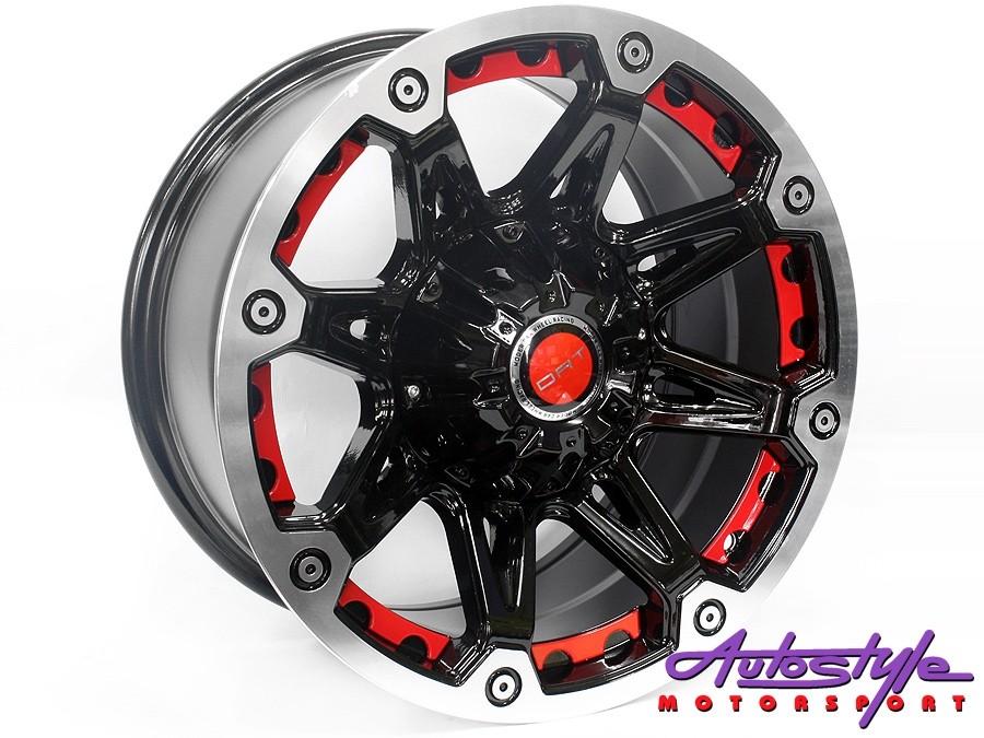 "17"" Evo BK349 6/139 BP-Red Alloy Wheels-0"